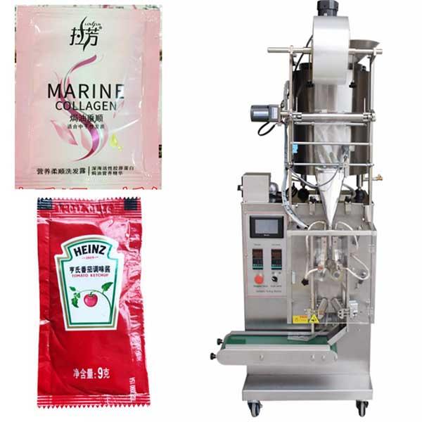 洗发水单列包装机_酱汁四边封包装机